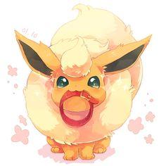 Pokémon - 136 Flareon art by pixiv id 3145151 (Sankaku Channel)
