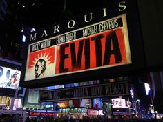 Evita revival opened at the Marquis Theatre on April 5th, 2012.