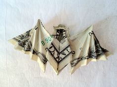 Origami Lessons and Artwork Folding Money, Origami Folding, Origami Paper, Dollar Bill Oragami, Oragami Money, Money Origami Tutorial, Origami Instructions, Tooth Fairy Money, Origami Jewelry