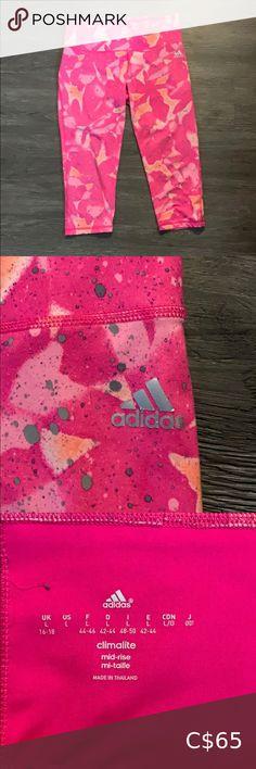 I just added this listing on Poshmark: Adidas Climalite Crop Leggings. #shopmycloset #poshmark #fashion #shopping #style #forsale #adidas #Pants Floral Leggings, Pink Leggings, Tight Leggings, Colorful Leggings, Rita Ora Adidas, Pink Design, Adidas Pants, Pink Adidas, Cute Pink