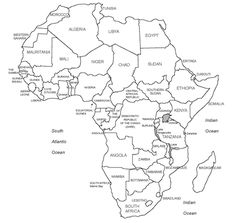 Printable Blank Africa Map.Printable Map Of Africa Africa World Regional Blank Printable Map
