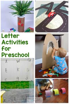 Move beyond ABC worksheets and use letter activities instead! These fun, hands-on activities are perfect for 3-year old kids. Alphabet Activities, Motor Activities, Hands On Activities, Preschool Alphabet, Abc Worksheets, Homemade Slime, Abc Games, Potty Training Tips, Letter Recognition