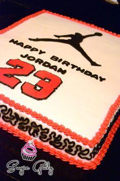 Fun Michael Jordan Birthday Cake in Austin Texas by Sugie Galz!