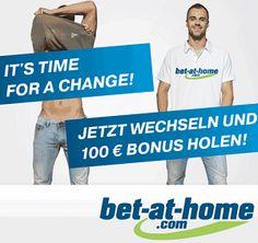 Bet At Home Gutschein 5 Euro und 100 Euro Bonus 2014. Jetzt behaupten Ihre 100 Euro Bet At Home Gutschein oder 5 Euro BetatHome Gutscheincode