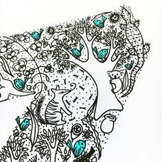 Aussie bush illustrated letter close up  . . . . . . . . . . . . . . . #illustratedletter #aussiebush #gumdots #myhanddrawnheart #australiannatives #australianflora #illustration #sharpieart #finelinerdrawing #finelinerart #numbat #gumtree #eucalyptus #fairywren #koala #conservationartist #australiananimals #australianwildlife #ihavethisthingwithblue #etsyau #etsyaunzgroup #handmadeconnect