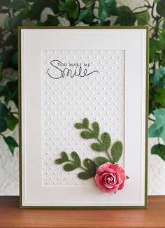 You Make MeSmile / Handmade Card