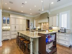 Naples Hot Property Blog - Gourmet kitchen - island counter seating.  il Regalo | North Naples, Florida