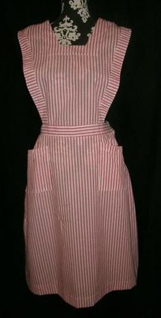 I had a candy striper's uniform just like this one!  Wore it with a white blouse underneath, socks and white shoes.