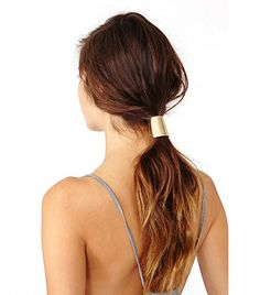 Upgrade your standard hairstyle with a little gold // Nasty Gal Capsule Ponytail Clip