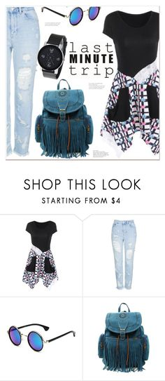 """""""last minute trip"""" by mycherryblossom ❤ liked on Polyvore featuring Topshop"""