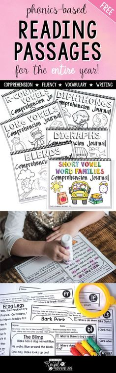 FREE Phonics-Based Reading Passages for the Entire Year