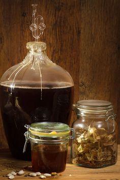 Homemade honey wine.