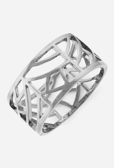 Silver African Princess Cage Bangle