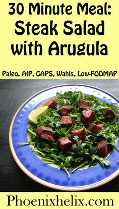 Steak Salad with Arugula | Phoenix Helix