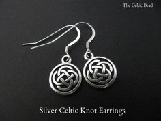 Silver Celtic Knot Irish Earrings by TheCelticBead on Etsy https://www.etsy.com/listing/171108987/silver-celtic-knot-irish-earrings