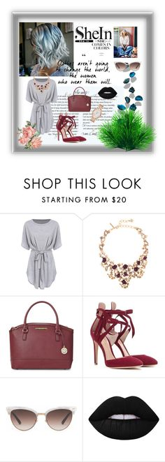 """""""untitled #01"""" by emira-besirovic ❤ liked on Polyvore featuring Oscar de la Renta, Anne Klein, Gianvito Rossi, Gucci, Lime Crime and Kate Spade"""