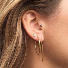 Zirconia Flower Earring