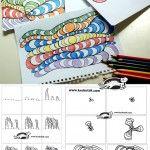 OP-ART – in Black Pen and Colored Pencils
