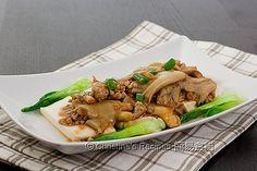 清蒸豆腐蠔菇肉鬆 Oyster Mushroom Tofu02 by christine.ho, via Flickr