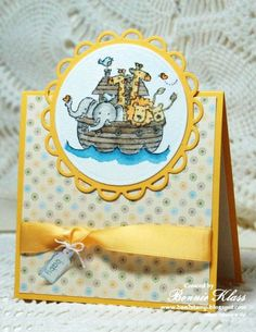 Two by Two in Yellow by bon2stamp - Cards and Paper Crafts at Splitcoaststampers