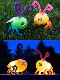 Easter Egg Firefly...this site has 22 different Easter crafts for children!! by Ирина Дубровская
