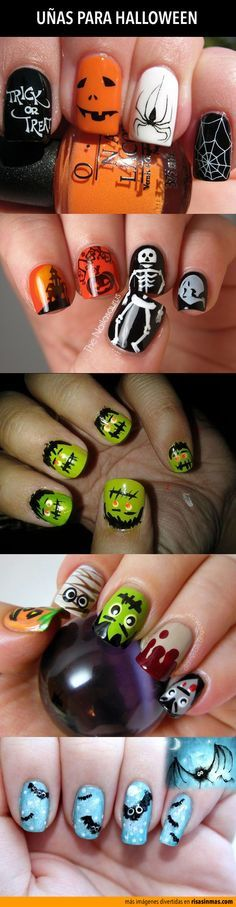 nails for Halloween.