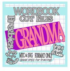 25 Days Free MTC & SVG Cut Files! Day 16 WordBook - GramdMa (Mini Album)