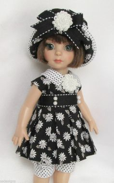"""PATSY'S A BLACK & WHITE DELIGHT! FOR 10"""" ANN ESTELLE, ETC. MADE BY SSDESIGNS"""