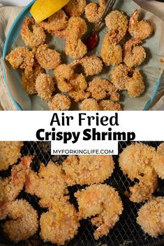 Making perfectly crispy and juicy shrimp in the air fryer is so easy and the results are delicious! Ready to serve in 20 minutes, they are easy to prep and made with a few simple ingredients. #airfriedshrimp #crispyshrimp #airfryershrimp Shrimp Recipes Easy, Fish Recipes, Seafood Recipes, Appetizer Recipes, Cooking Recipes, Budget Recipes, Cooking Ideas, New Air Fryer Recipes, Air Fryer Dinner Recipes