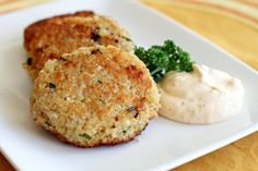 Cheesy Quinoa Cakes.    Just made these and they were pretty good! My first experience with quinoa & I didn't hate it yay!