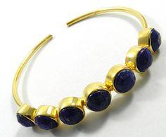 fabulous Natural Lapis Lazuli gemstone brass fashion design nice bangle jewelry #Magicalcollection #Bangle