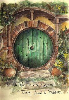 In a hole in the ground there lived a Hobbit #lotr