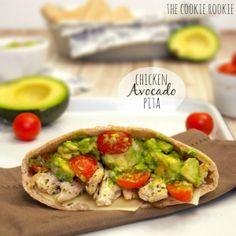 Chicken Avocado Pitas - The Cookie Rookie