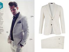 The white suit by De Fursac featured in the French GQ  www.defursac.fr
