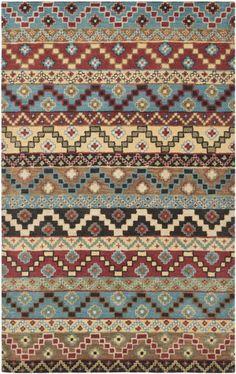 RugStudio presents Safavieh Isaac Mizrahi Imr508a Blue / Multi Hand-Tufted, Better Quality Area Rug