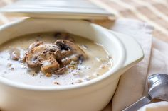 mushroom and beef soup with wild rice