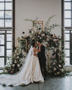 Modern winter indoor ceremony backdrop with reds + pinks - winter, winter wedding, winter wedding ideas,winter ceremony decoration Wedding Ceremony Backdrop, Ceremony Arch, Wedding Aisles, Indoor Ceremony, Wedding Backdrops, Wedding Ceremonies, Wedding Reception, Winter Wedding Decorations, Wedding Centerpieces