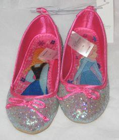 Disney Store Frozen Movie Elsa and Anna Silver Ballet Flats Size 11 Brand New   eBay
