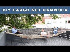 Riesen Hängematte - Große Liegefläche für Dachterrassen