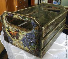 """Продано Ящик """"Для чего-нибудь"""" - декупаж работы,ящик,короб,деревянная заготовка"""