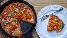 Gourmet Girl Cooks: Chicago Style Deep Dish Skillet Pizza -- Wheat, Grain & Gluten-Free [guess I'd need a cast iron skillet for this. Low Carb Pizza, Low Carb Bread, Low Carb Keto, Paleo Pizza, Atkins Recipes, Low Carb Recipes, Cooking Recipes, Healthy Recipes, Healthy Eats