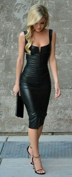 Handmade Women's Leather Celebrity Dress , Leather Outfit, Leather Jacket , Women's Vintage Leather , Dress Genuine Leather Jacket Pretty Dresses, Sexy Dresses, Beautiful Dresses, Beautiful Women, Work Dresses, Beautiful Lips, Gorgeous Dress, Satin Dresses, Evening Dresses