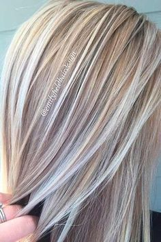 platinum blonde highlights Try platinum blonde hair shade if you want to stand out from the crowd. This color is so eye-catching. See our collection of platinum blonde looks. Grey Blonde Hair, Blonde Hair Shades, Platinum Blonde Hair, Blonde Color, Highlighted Blonde Hair, Platinum Grey, Brown Blonde, Brown Hair, Blonde Grise