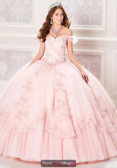 This unique ball gown dress by Princesa is sure to make a grand entrance at your quinceanera. Showcased is a flattering fitted bodice, an elegan. Light Pink Quinceanera Dresses, Neon Prom Dresses, Robes Quinceanera, Pink Gowns, Ball Gown Dresses, 15 Dresses, Pink Dresses, Turkish Wedding Dress, Masquerade Ball Gowns