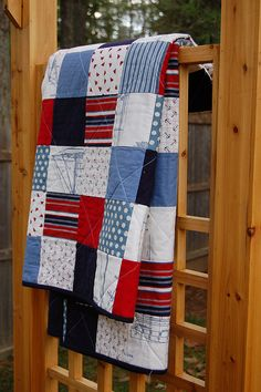 nautical quilt I'll have to make Jake one out of fleece every time he deploys :)