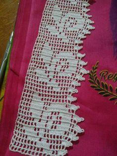 Crochet lace trim pattern ganchillo ideas for 2019 Doily Patterns, Easy Crochet Patterns, Crochet Designs, Crochet Art, Filet Crochet, Crochet Doilies, Crochet Mittens, Crochet Stitches, Crochet Sandals