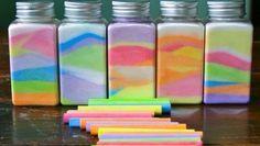 Giochi fai da te: l'arcobaleno con il sale