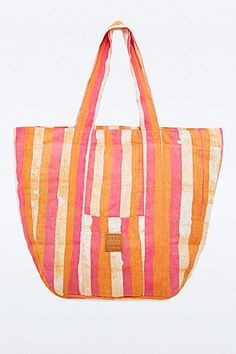 Osei Duro Candy Stripe Carry All Bag in Orange - Urban Outfitters
