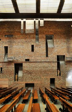 St Bride's Church in East Kilbride Kirk, New Town Scotland by Gillespie, Kidd & Coia Architecture, 1963