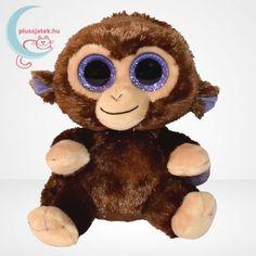 Coconut, azaz Kókuszka egy mindig mosolygós csillogó szemű plüss majom, a Ty Beanie Boos sorozatból. Ez a 15 cm magas, barna színű plüss majom hatalmas szemekkel, pihe-puha tapintású bunda alatt várja új barátját. #Plüss #Játék #Jatek #Ajándék #Ajandek #TYBeanie #TY #Beanie Ty Beanie Boos, Minion, Coconut, Teddy Bear, Toys, Animals, Activity Toys, Beanie Boos, Animales